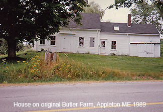House on Butler first farm