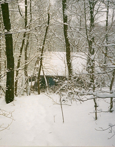 Crone Shelter in Snow