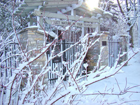 Front Gate in snow