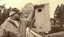 Cary with woodduck house