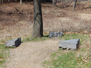 Granite seating in the prairie