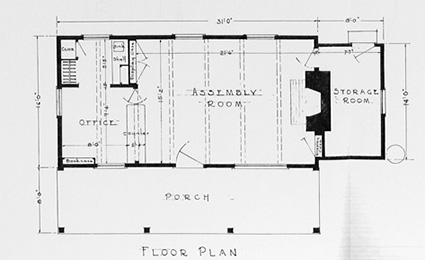 Floor plan of the shelter