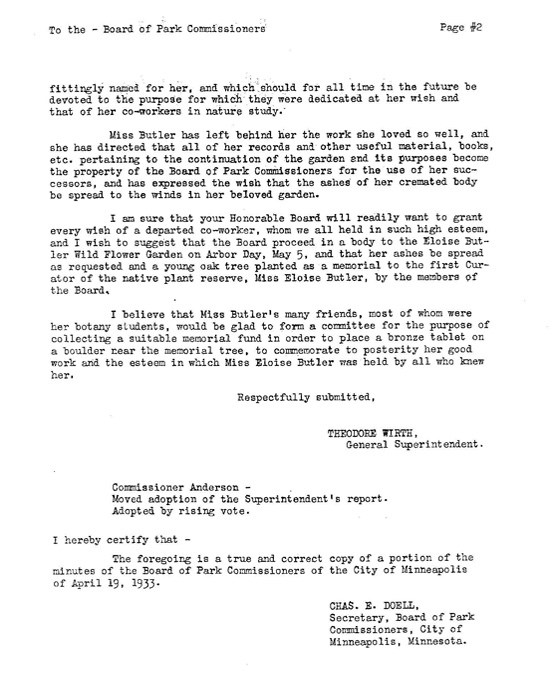 Theodore Wirth letter page 2