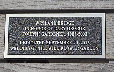 Boardwalk Bridge dedication plaque