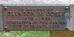 Odell Upland Bench Plaque