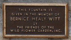 Witt Fountain Plaque